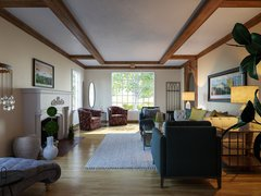Cozy Natural Living Room Design Moodboard thumb