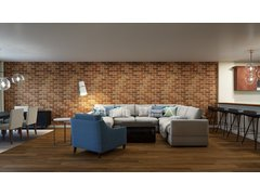 Contemporary Combine Living/Dining Transformation Rendering thumb