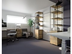 Industrial Small Home Office Design Rendering thumb