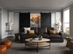 Modern Rustic Living Room Design Rendering thumb