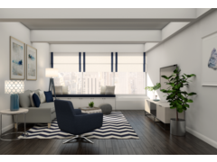 Modern Living, Entry, and Kids Room Design Rendering thumb
