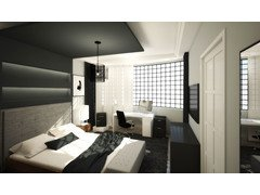 Masculine Master Bedroom Transformation Rendering thumb