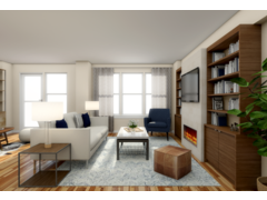 Modern, Yet Subtle Living/Dining Room Rendering thumb
