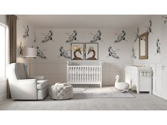 Neutral and Calming Nursery Design Rendering thumb