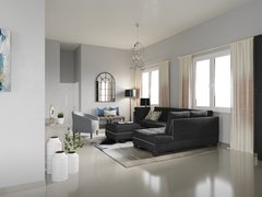 Gray Tones for Transitional Living Room Rendering thumb