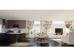 Modern Lux Living and Dining Interior Rendering thumb