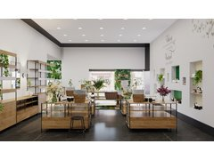 Natural Eclectic Cosmetic Store Interior Rendering thumb