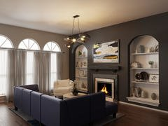 Elegant Transitional Combined Living/Dining Rendering thumb