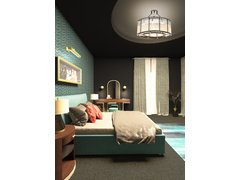 Industrial Retro Bedroom Transformation Ideas  Rendering thumb