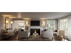 Neutral Transitional Living and Dining Room Rendering thumb