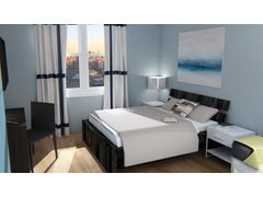 Bachelor Pad Living Room/Bedroom Design Rendering thumb