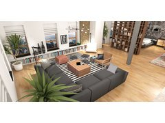 Masculine Eclectic Loft  Rendering thumb