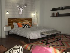 Aprils Fun & Eclectic Bedroom Rendering thumb