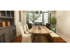 Rustic/Eclectic Dining and Living Design Rendering thumb