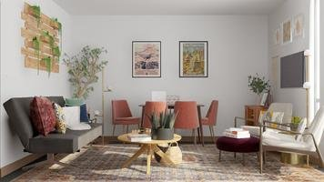 Online design Modern Combined Living/Dining by Anna P. thumbnail