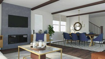 Online design Modern Combined Living/Dining by Selma A. thumbnail
