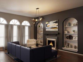 Online design Modern Living Room by Sarah M. thumbnail