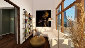 Online design Glamorous Living Room by Chante F. thumbnail
