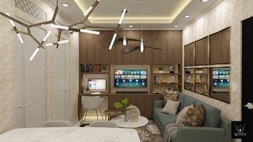 Online design Glamorous Living Room by Warren L. thumbnail