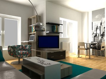 Online design Contemporary Combined Living/Dining by Dragana V. thumbnail