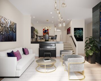 Online design Glamorous Combined Living/Dining by Wanda P. thumbnail