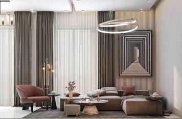 Online design Modern Living Room by Zahra M. thumbnail