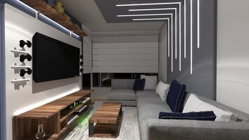 Online design Modern Living Room by Sara P. thumbnail