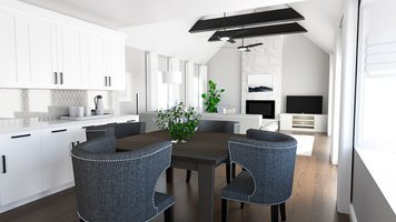 Online design Transitional Combined Living/Dining by MaryBeth C. thumbnail