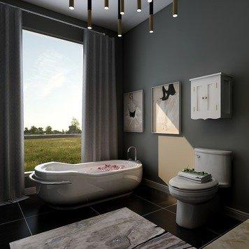 Online design Modern Bathroom by KaSonndra L. thumbnail