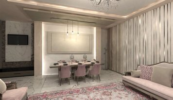 Online design Transitional Combined Living/Dining by Nazila A. thumbnail