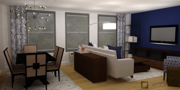 Online design Transitional Combined Living/Dining by Amber K. thumbnail