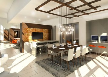 Online design Modern Combined Living/Dining by Kristina O. thumbnail