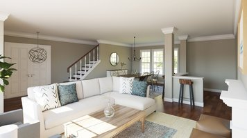 Online design Transitional Combined Living/Dining by Angela S. thumbnail