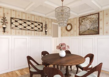 Online design Transitional Dining Room by Rajna S. thumbnail
