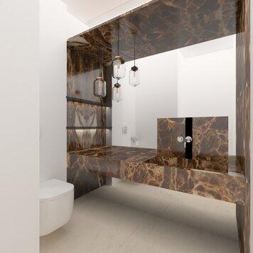 Online design Modern Bathroom by Vanessa A. thumbnail