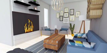 Online design Eclectic Living Room by Jamie S. thumbnail