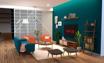 Online design Modern Living Room by Aboli P. thumbnail