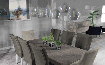 Online design Transitional Combined Living/Dining by Debbie O. thumbnail