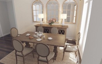 Online design Transitional Dining Room by Amisha D. thumbnail