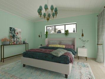 Online design Modern Bedroom by Kira L. thumbnail