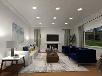 Online design Contemporary Living Room by Jatnna M. thumbnail