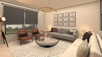 Online design Eclectic Living Room by Salma o. thumbnail