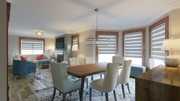 Online design Transitional Combined Living/Dining by Lauren A. thumbnail