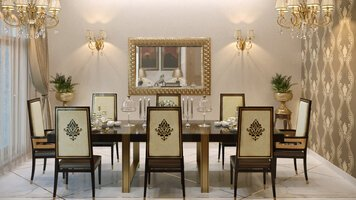 Online design Traditional Dining Room by Rehan A. thumbnail