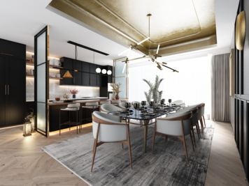 Online design Contemporary Dining Room by Atif N. thumbnail