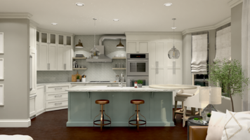 Online design Traditional Combined Living/Dining by Taron H. thumbnail