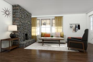 Online design Modern Living Room by Christine M. thumbnail