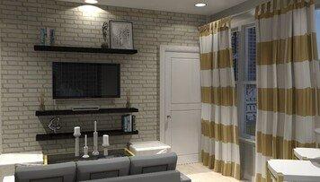 Online design Glamorous Living Room by Brittany J. thumbnail
