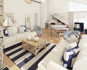 Online design Beach Living Room by Lynda N thumbnail