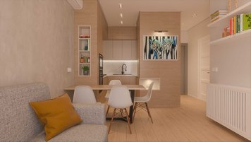 Online design Modern Combined Living/Dining by Sophio J. thumbnail